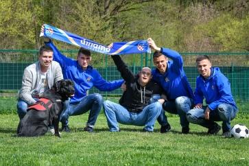 11.04.2018., Zagreb - Igraci Dinama u Centru za rehabilitaciju i obuku pasa Silver. Photo: Sandra Simunovic/PIXSELL